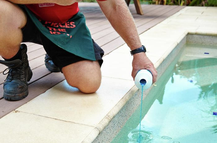 DIY Step Image - How to fix a green pool . Blob storage upload.