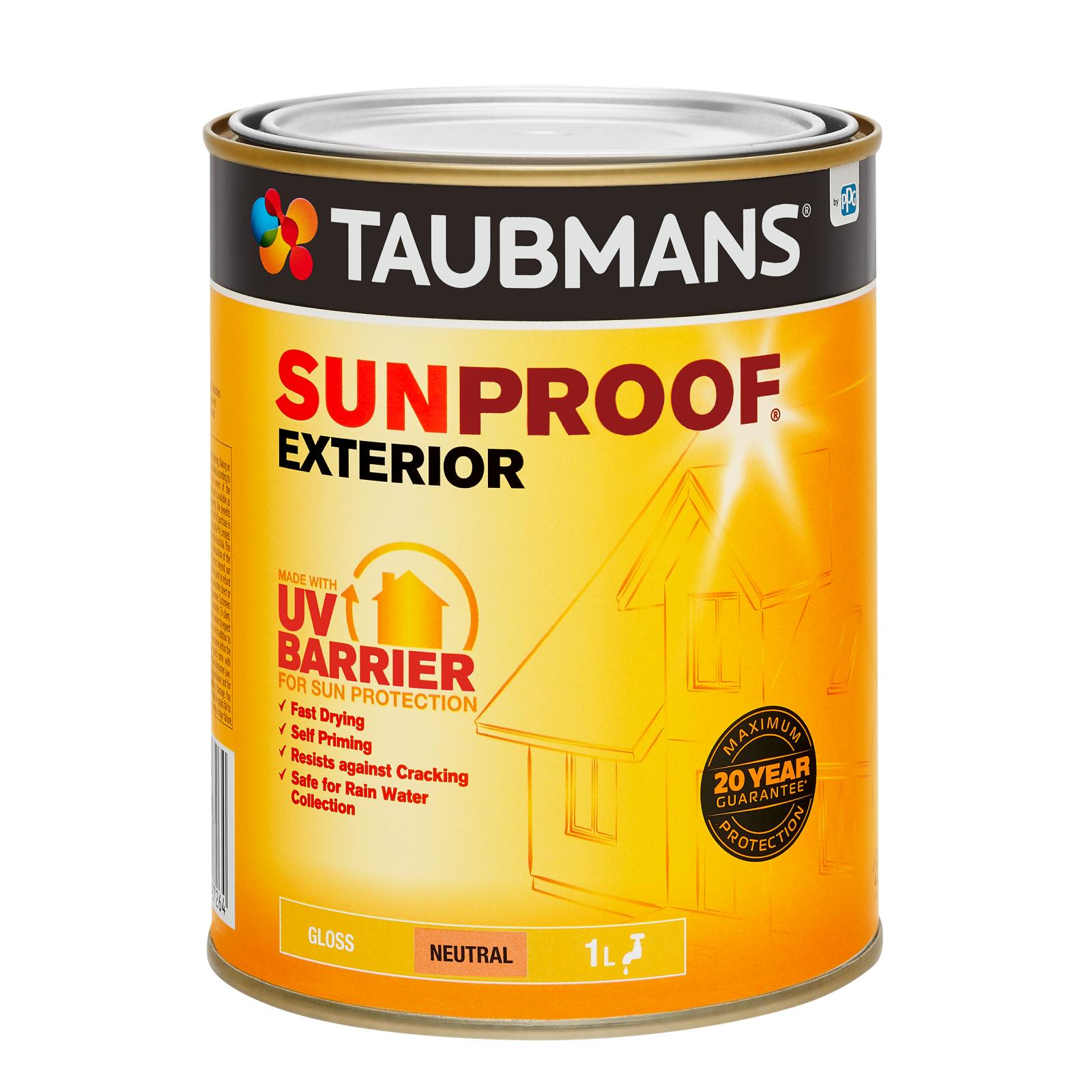 Taubmans Gloss Neutral Sunproof Exterior Paint - 1L