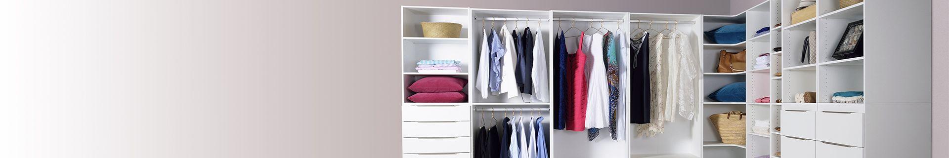 Wardrobe with clothing