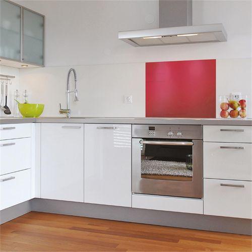 Stein 600mm Blush Red Glass Splashback