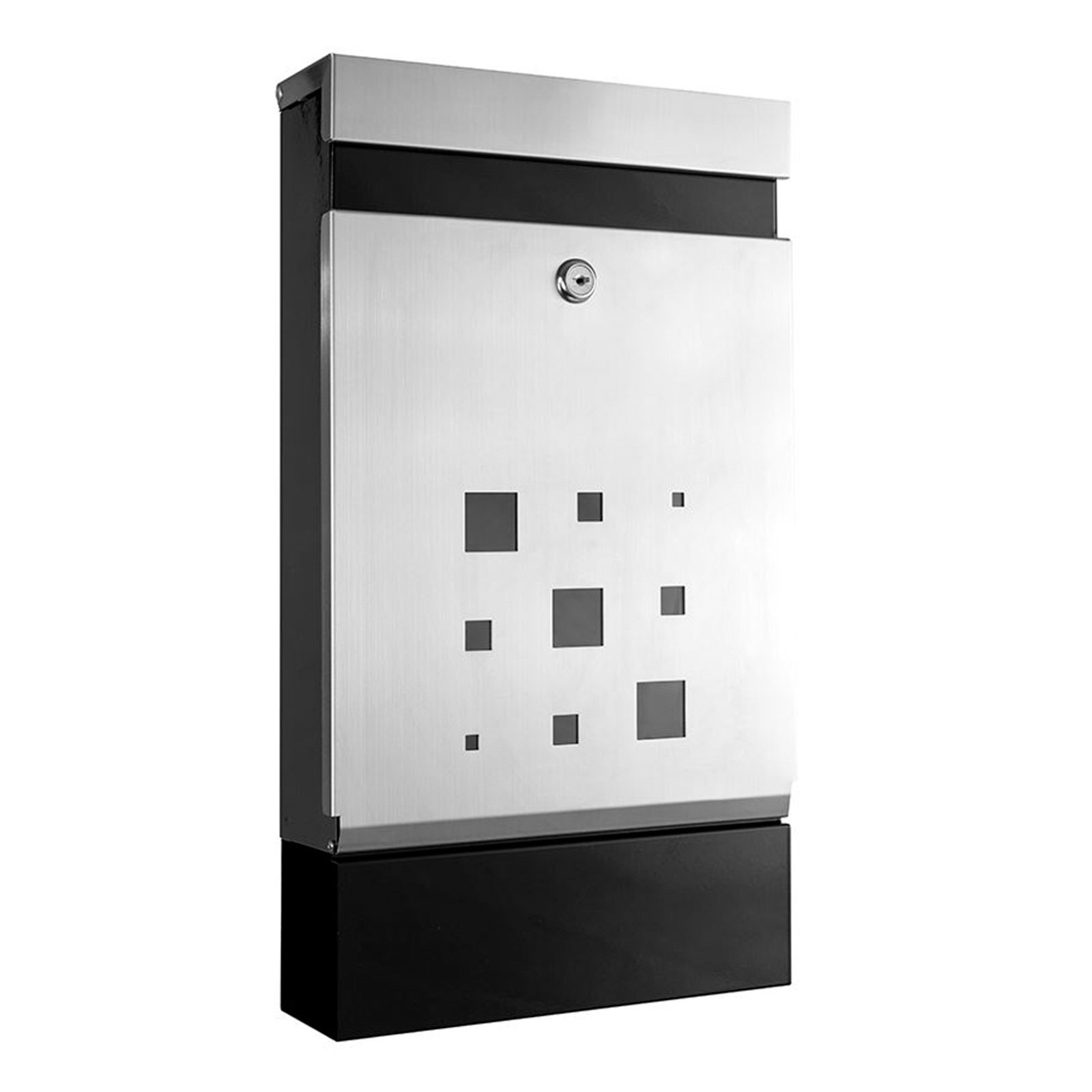 Sandleford Black / Stainless Steel Wall Mounted Caddy Letterbox