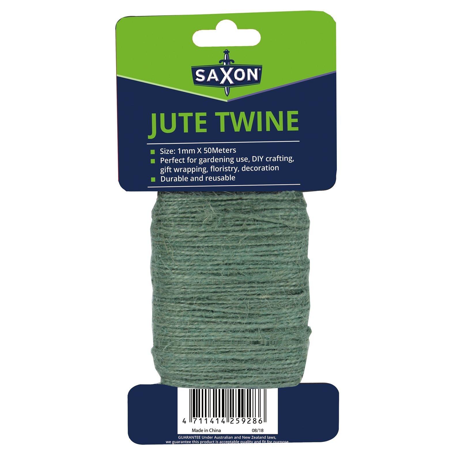 Saxon 50m Green Jute Plant Tie