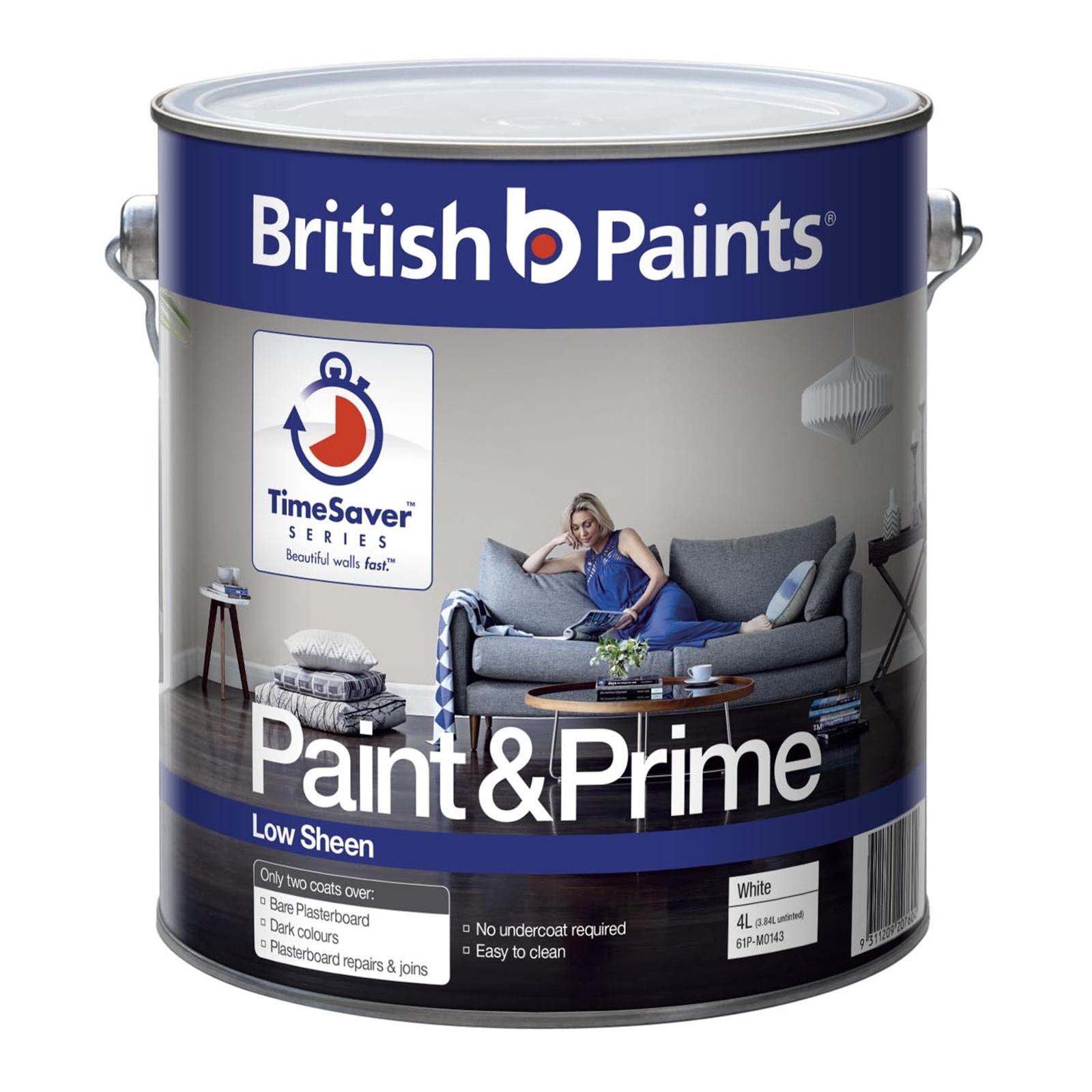British Paints 4L Paint & Prime Low Sheen Interior
