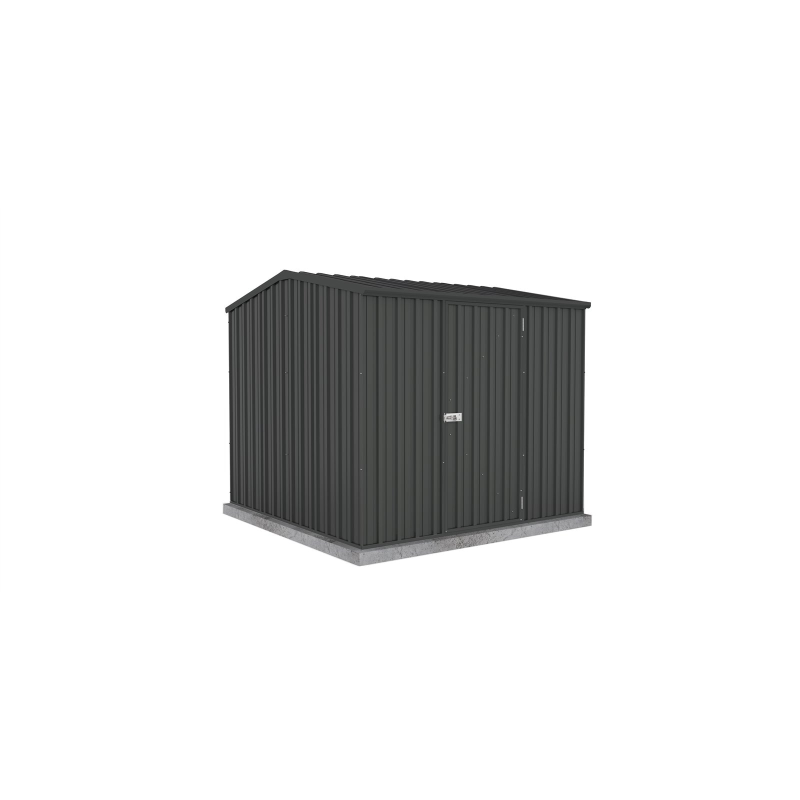 Absco Sheds 2.26 x 2.26 x 2m Premier Single Door Garden Shed - Monument