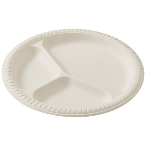 Ecosoulife Cornstarch 25cm Divided Plate - Natural