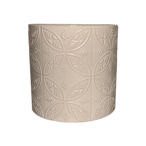 Eden 14cm White Moroccan Tile Ceramic Planter