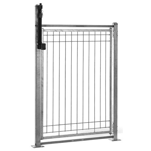 Cyclone Galvanised Right Hand Pool Gate Pack with Base