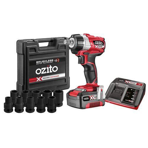 Ozito PXC 18V Brushless Impact Wrench Kit