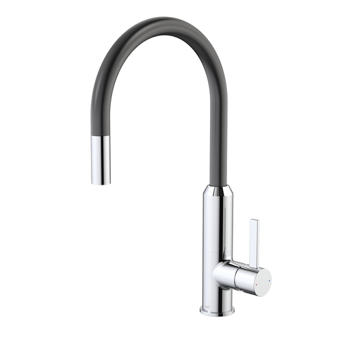 Dorf WELS 4 Star, 7.5L/Min Vixen Black Retractable Sink Mixer