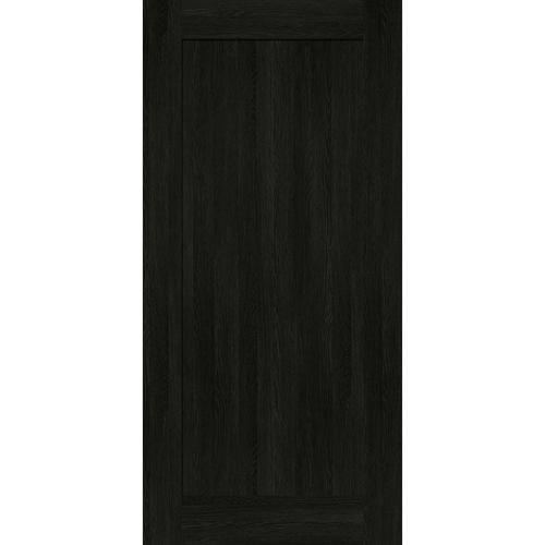 inBuilt 25 x 2100 x 1000mm Black Bordeaux Shaker Barn Door