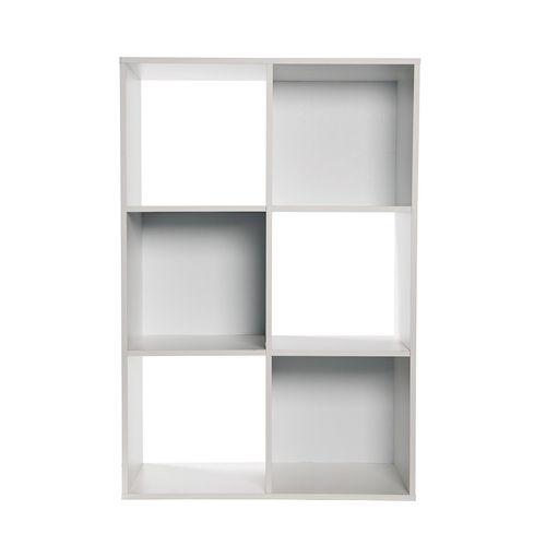 Flexi Storage Clever Cube 2 x 3 White Compact Storage Unit
