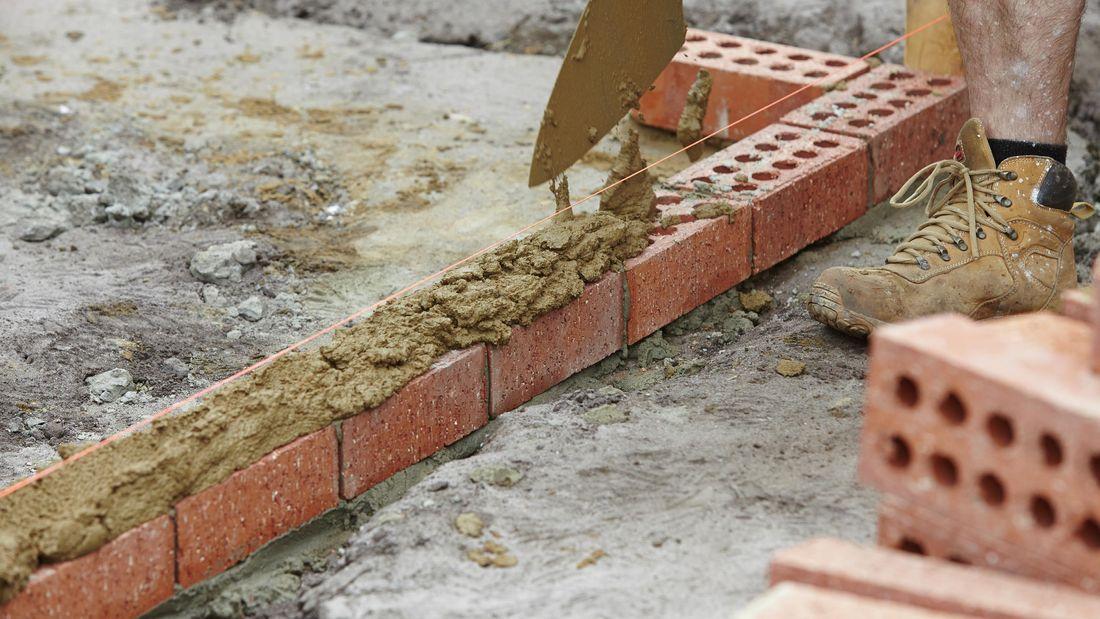 DIY Step Image - How to build a brick wall . Blob storage upload.
