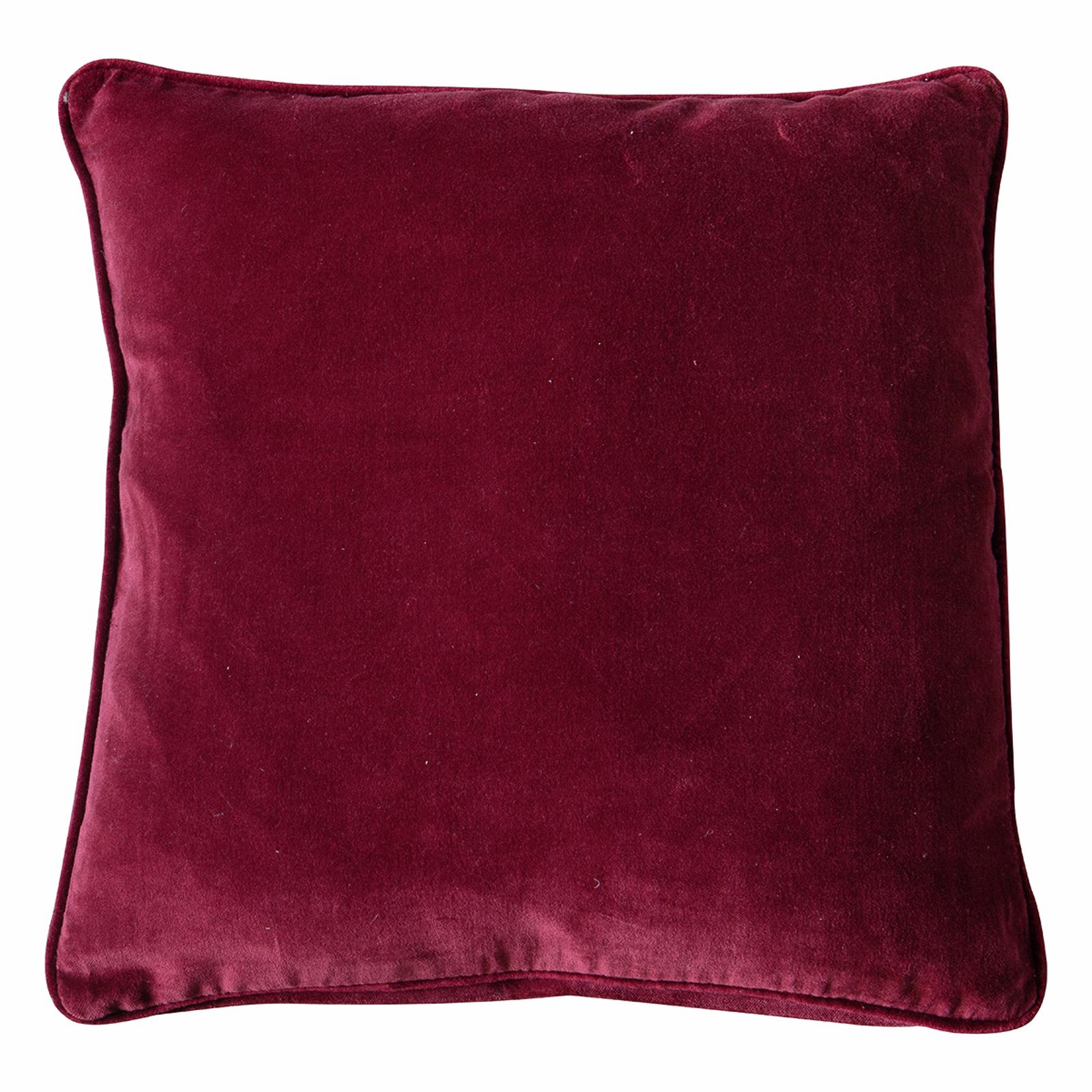 Ella 450 x 450mm Claret Velvet Cushion