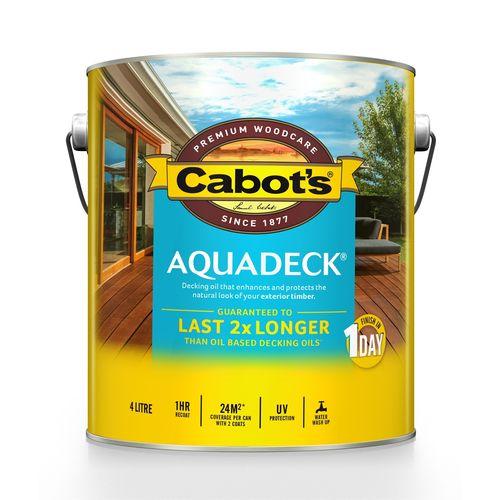 Cabot's Jarrah Aquadeck Exterior Decking Oil - 4L