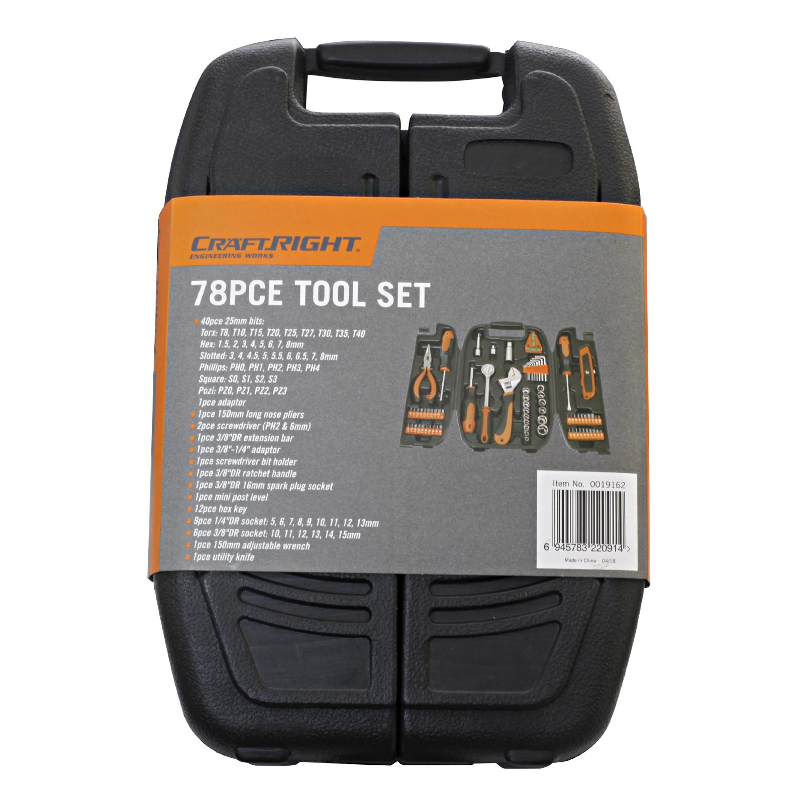 Craftright 78 Piece Tool Kit