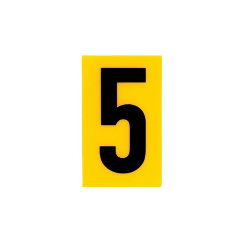 Sandleford 60 x 35mm 5 Yellow Cut Out Self Adhesive Numeral
