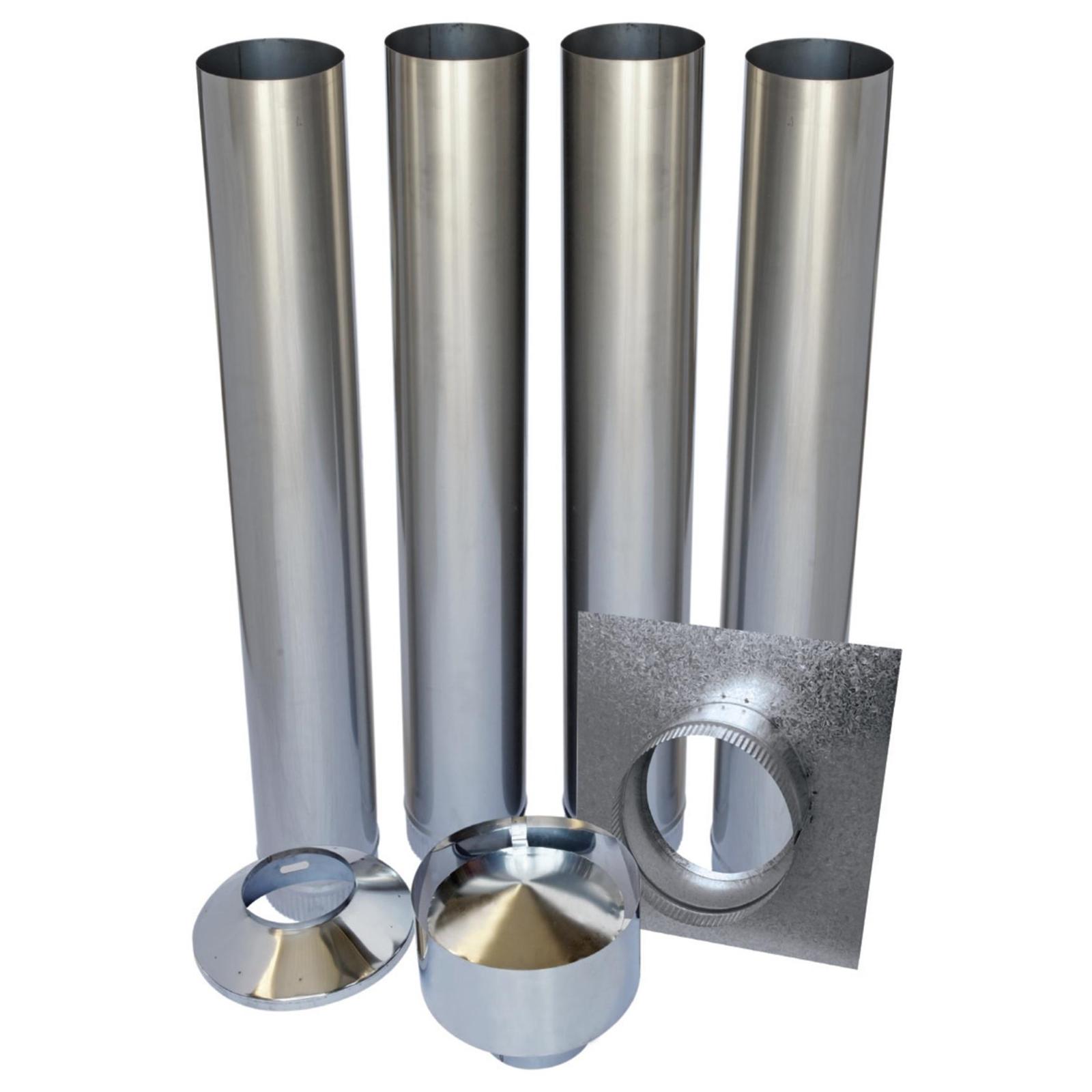 Scandia Masonry Inbuilt Flue Kit - galvanised Warmbrite 200i-S3/300i-S3