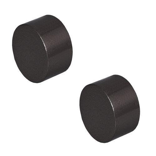Pillar 25mm Black Curtain Rod Finial Cap - 2 Pack