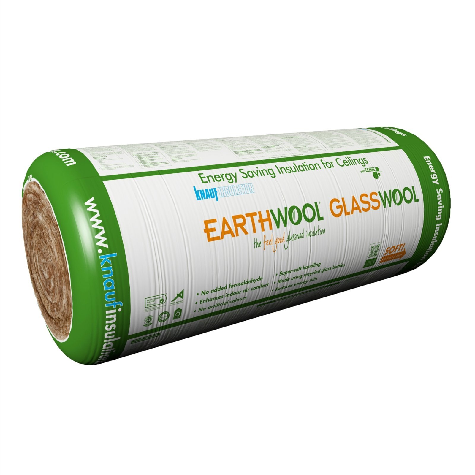Earthwool glasswool R3.6 150mm x 1200mm x 7000mm 8.4m² Ceiling Insulation Roll - Pack of 1