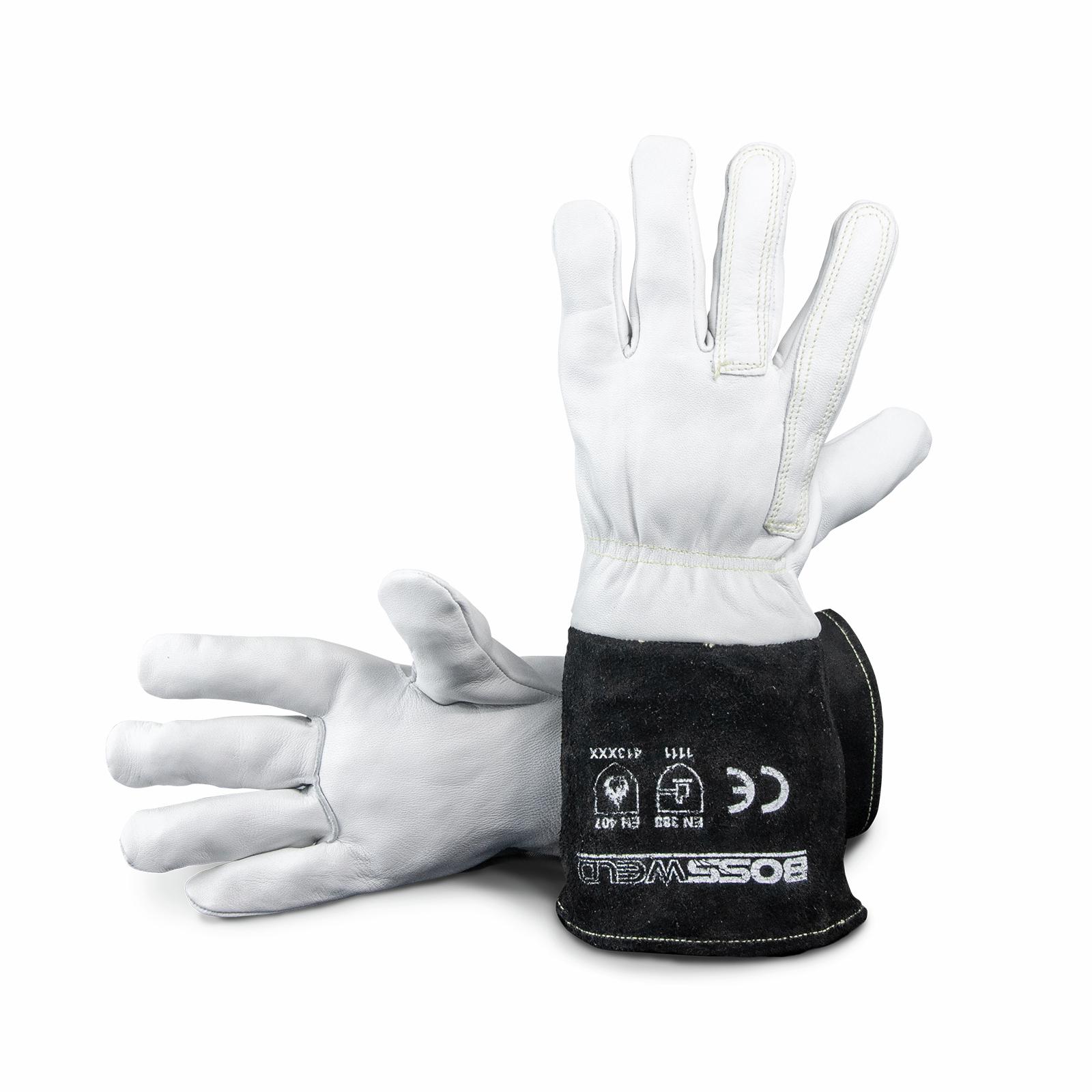 Bossweld Long TIG Welding Gloves