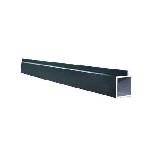 Connect-it 25.4 x 25.4 x 1.2mm 1.8m Black Anodised Aluminium Square Tube With Lip