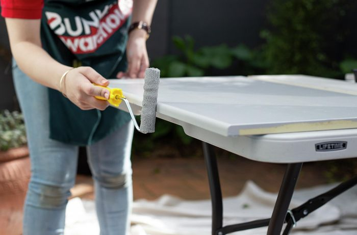 DIY - Step 6 - Paint your second coat - How to paint laminate kitchen cabinets