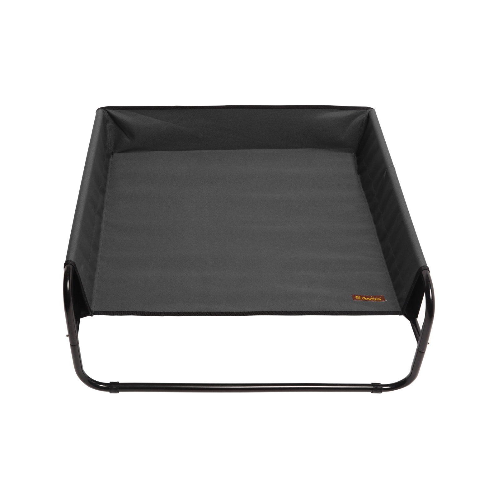Charlie's Pet High Walled Outdoor Trampoline Pet Bed Cot - Black