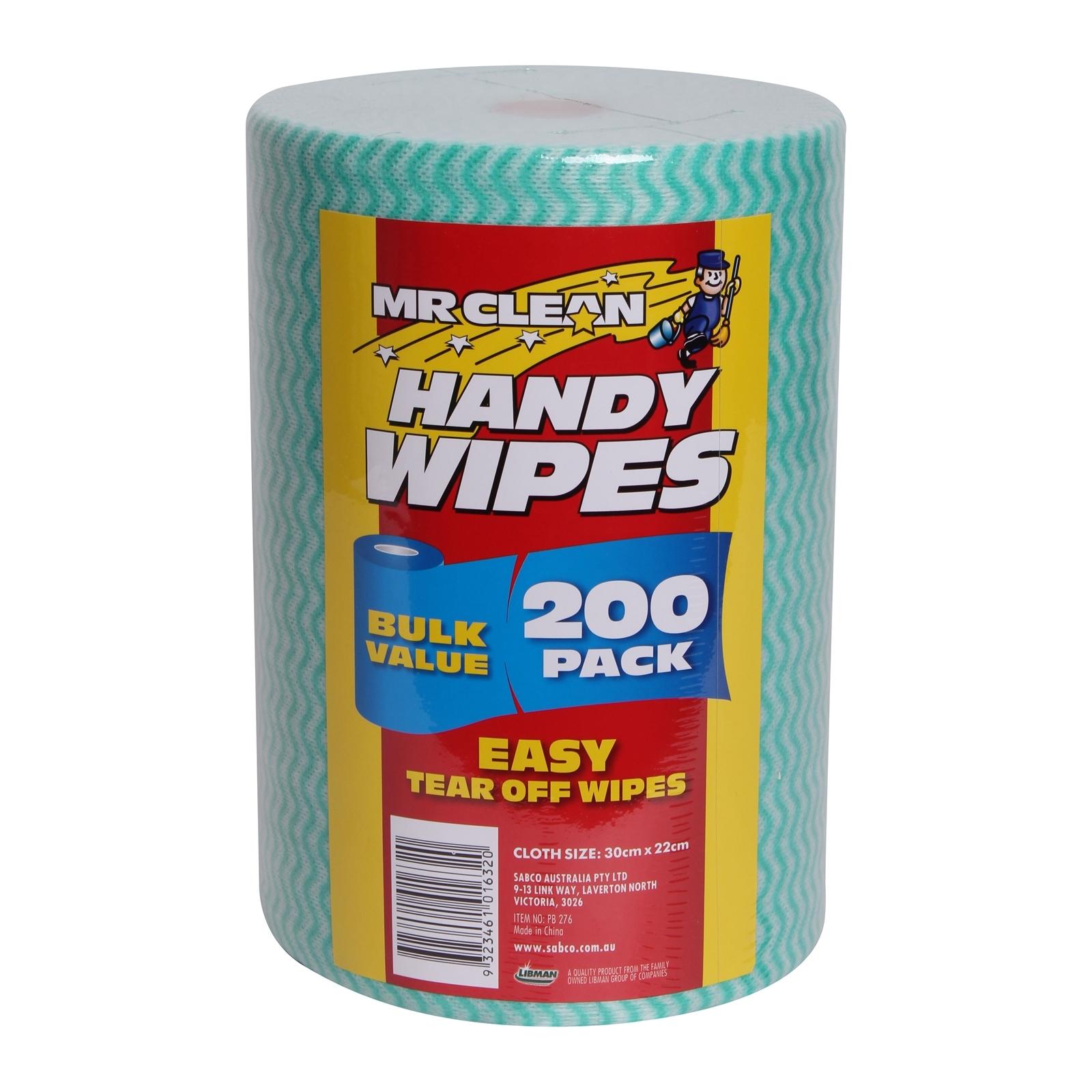 Mr Clean Handy Wipe - 200 Pack