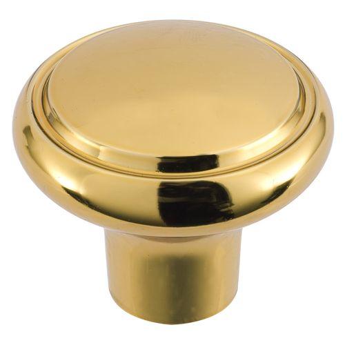 Gainsborough Classic Series Bright Goldtone Diplomat Wardrobe Knob