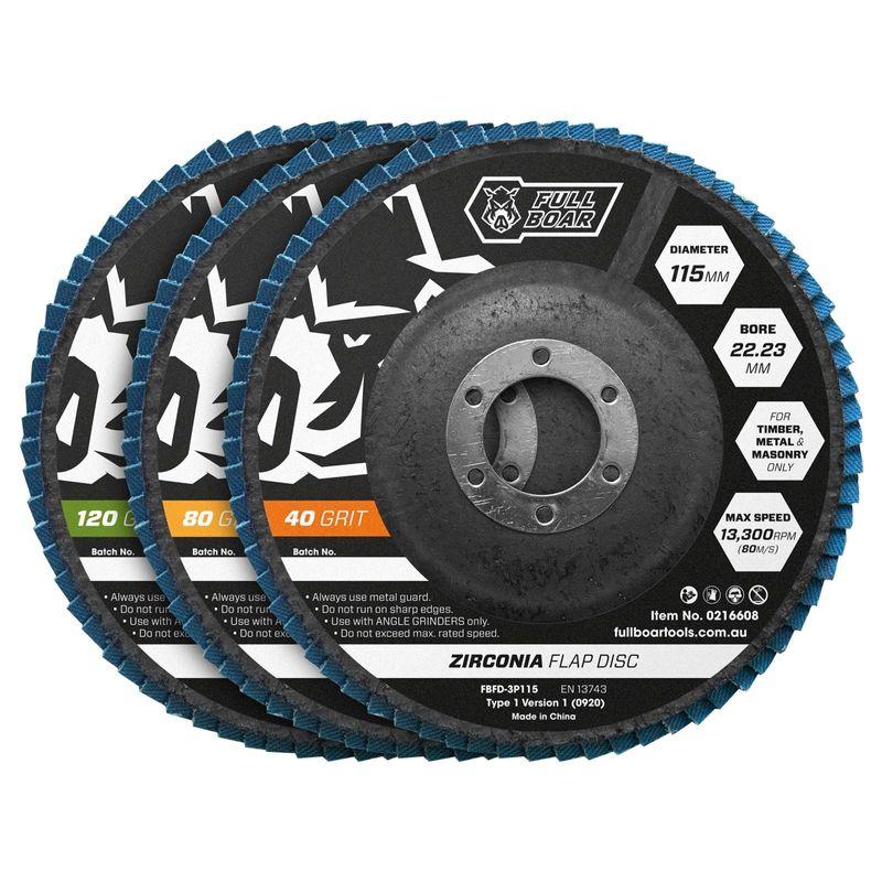 115mm Flap Disc 40/80/120 Grit
