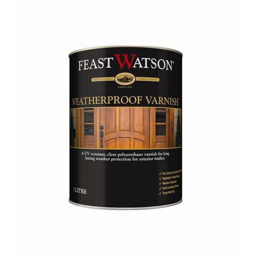 Feast Watson 4L Clear Satin Weatherproof Timber Varnish