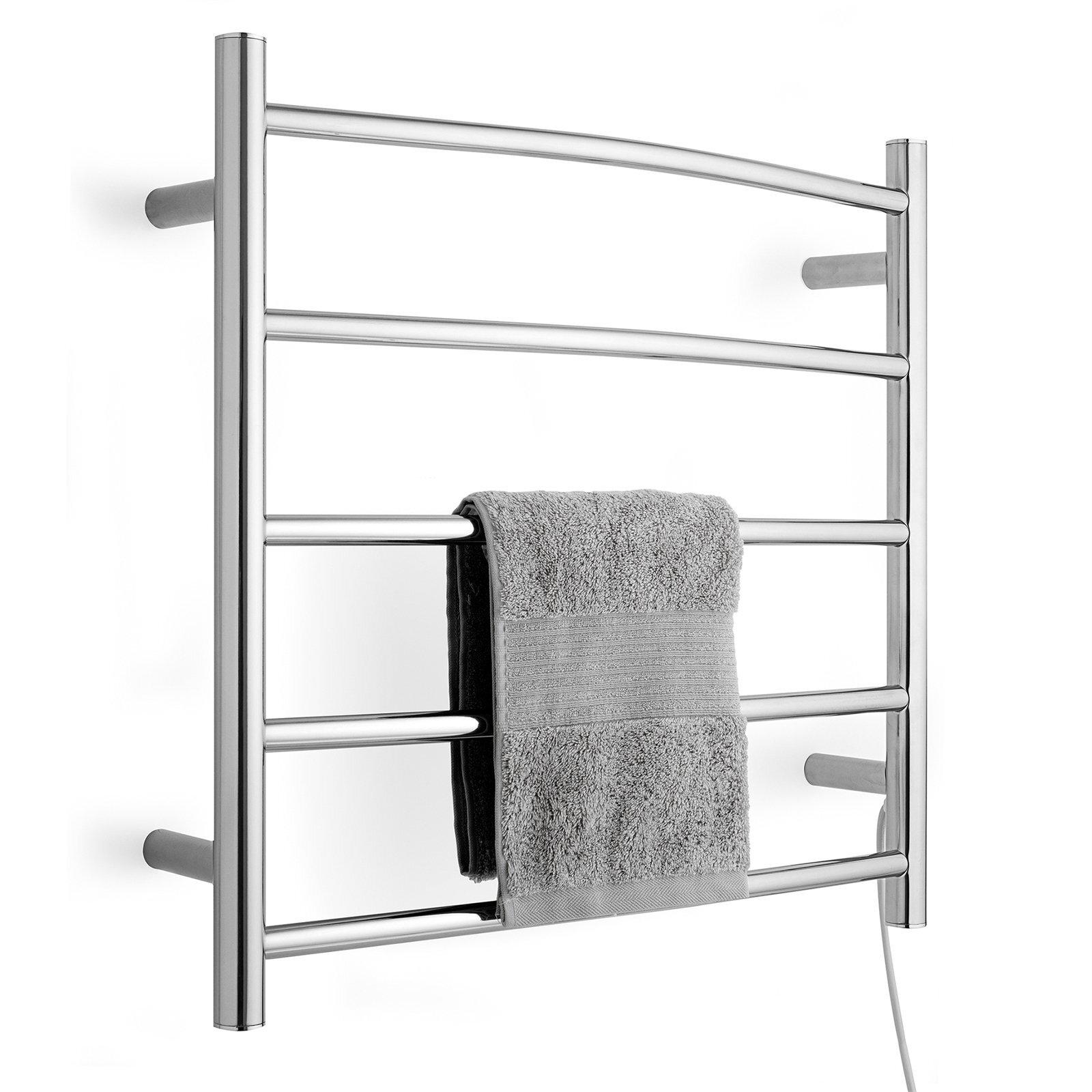 Arlec 5 Bar 40W Stainless Steel Heated Towel Rail