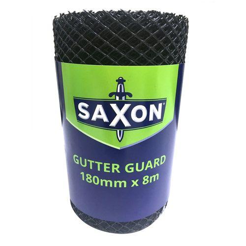 Saxon 180mm x 8.0m Black Plastic Gutter Guard