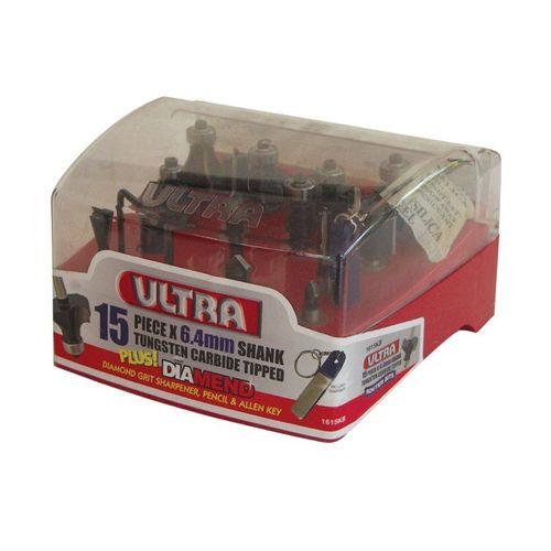 Ultra 15 Piece Ultra Router Bit Kit