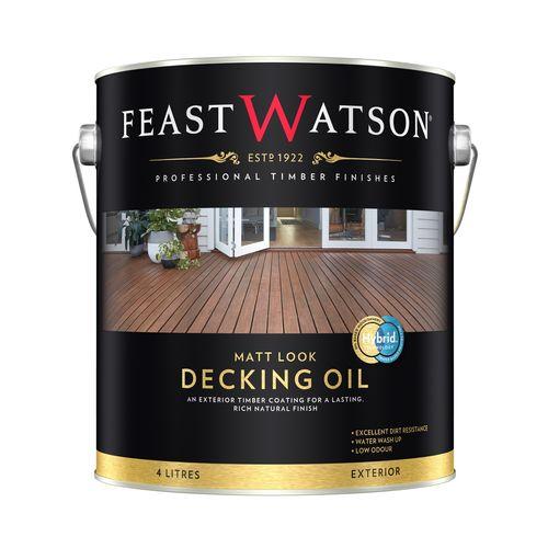 Feast Watson 4L Matt Look Decking Oil - Natural