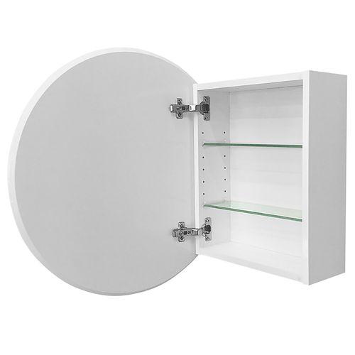 Stein 600mm White Oakridge Round Mirror Cabinet