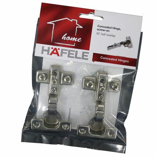 Hafele Half Overlay Mini Hinge - 2 Pack
