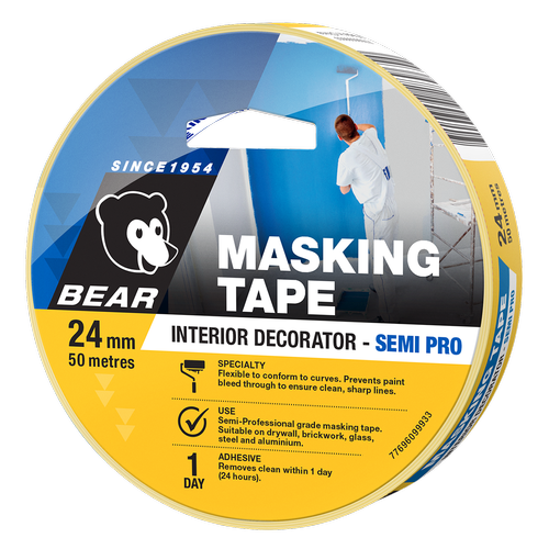 Bear 24mm x 50m Deco Masking Tape