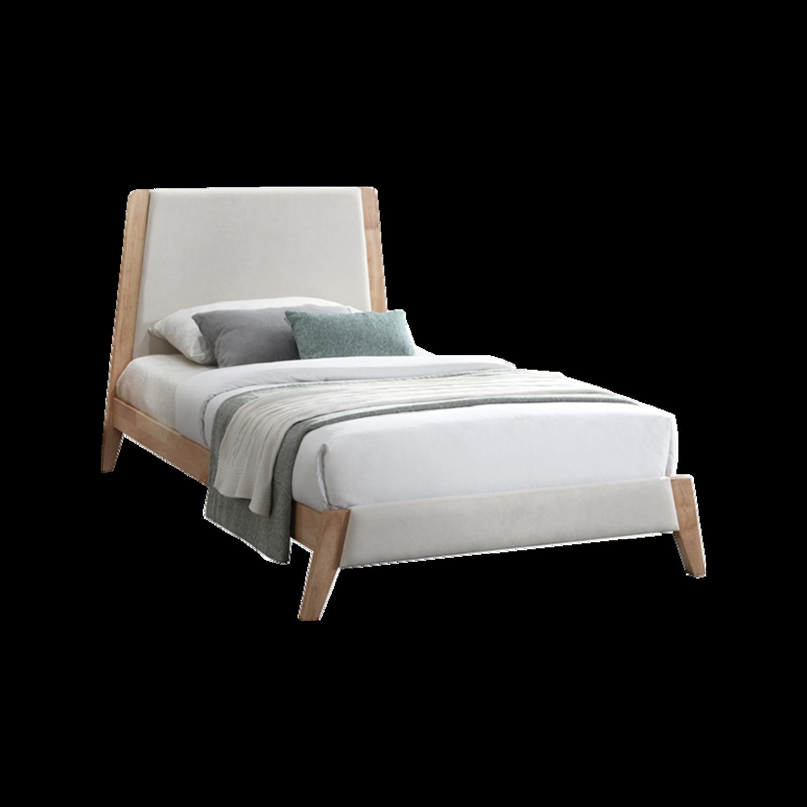 Finn King Single Hardwood  Bed and Mattress Set