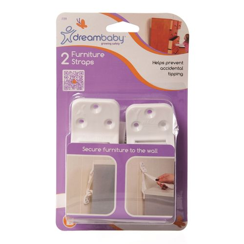 Dreambaby Child Safety Furniture Wall Safety Strap - 2 Pack