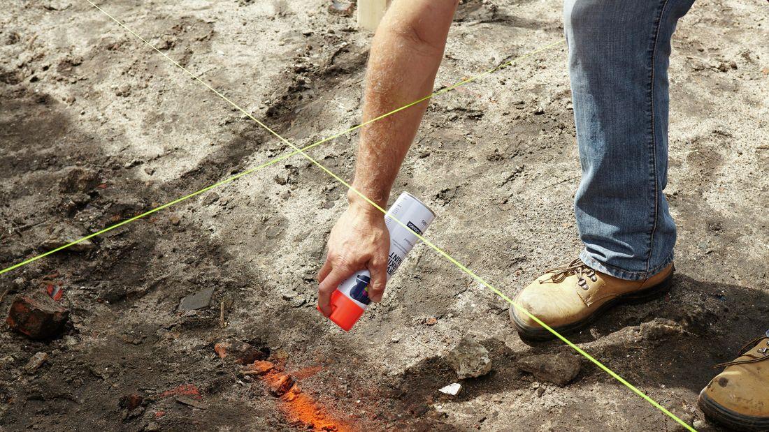 DIY Step Image - How to dig a foundation . Blob storage upload.