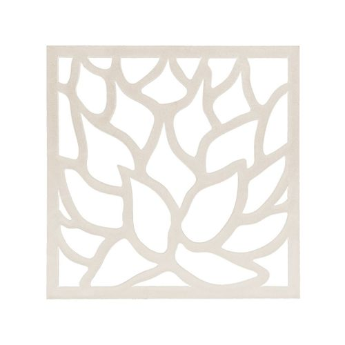 Matrix 570 x 570mm Off White Lotus Wall Art