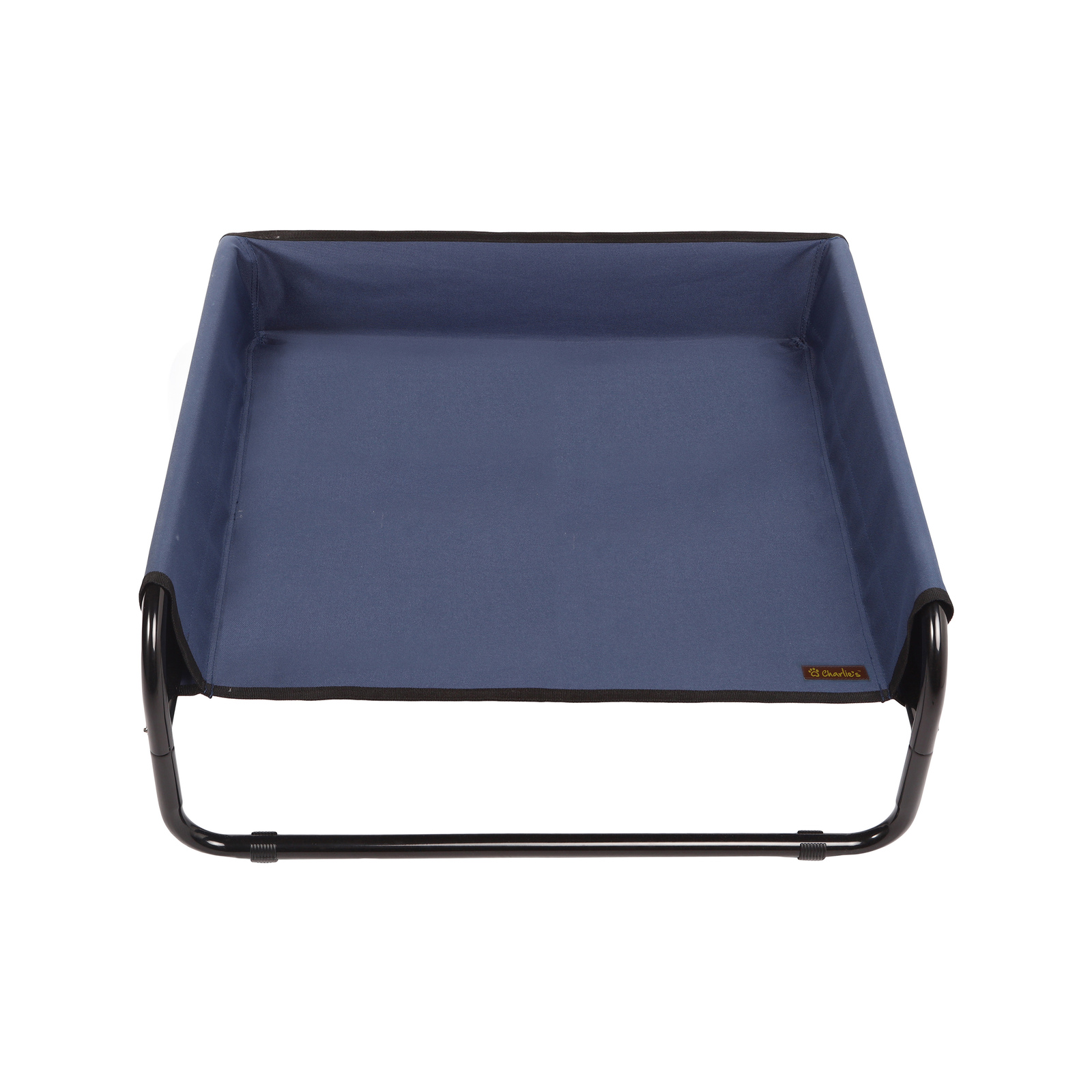 Charlie's Pet High Walled Outdoor Trampoline Pet Bed Cot - Blue