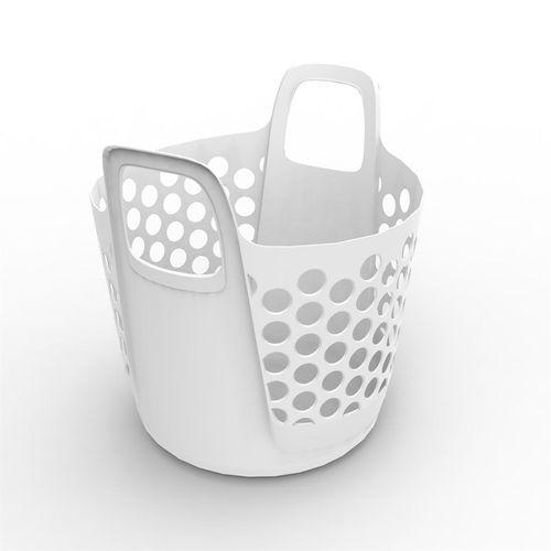 Ezy Storage 37L Flexi Laundry Basket - White