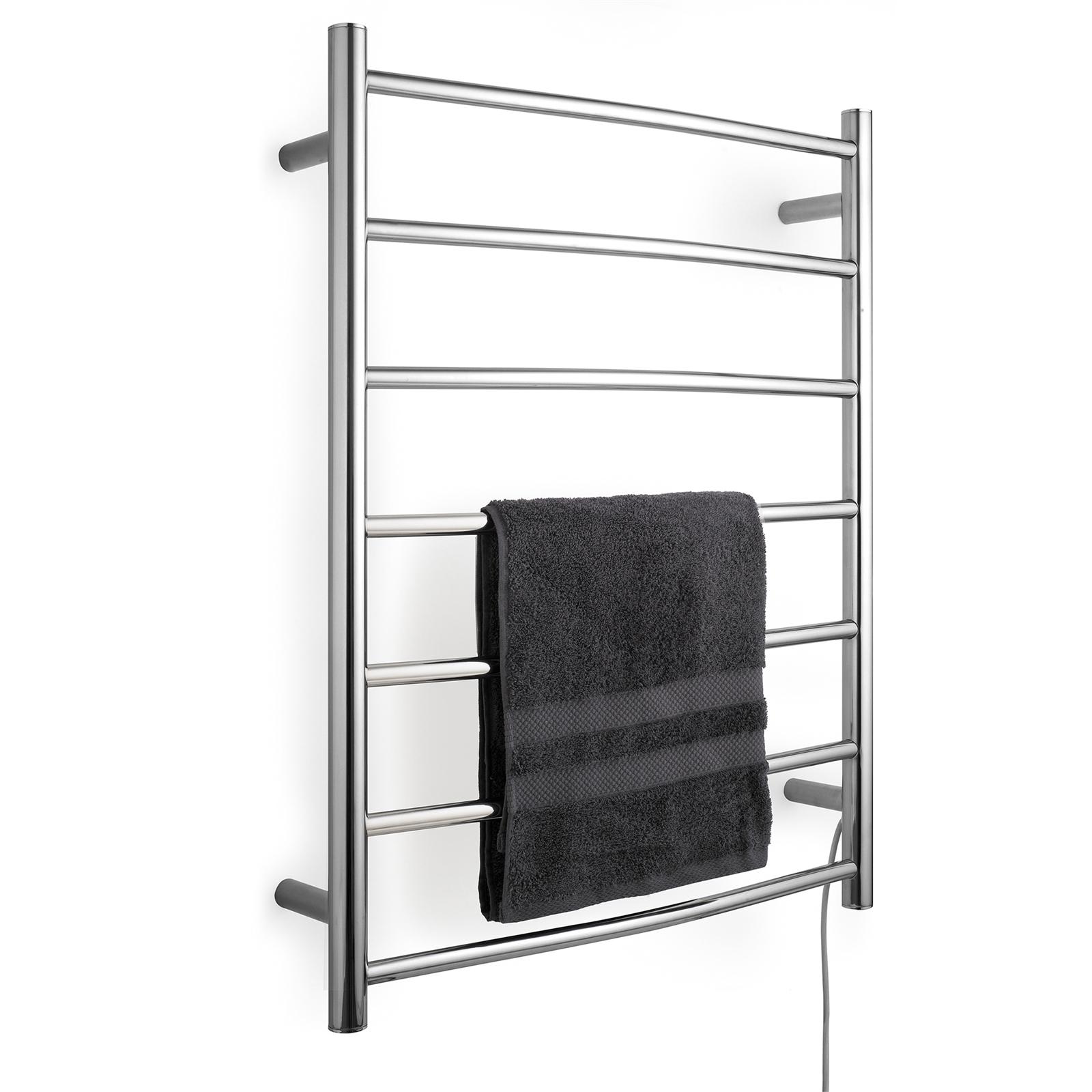 Arlec 7 Bar 70W Stainless Steel  Curved Heated Towel Rail
