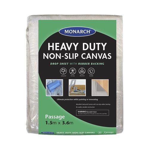 Monarch 1.5 x 3.6m Heavy Duty Non-Slip Canvas Drop Sheet