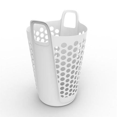 Ezy Storage 69L Flexi Laundry Hamper - White