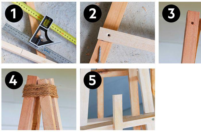 How to build a garden obelisk - Steps 1-5