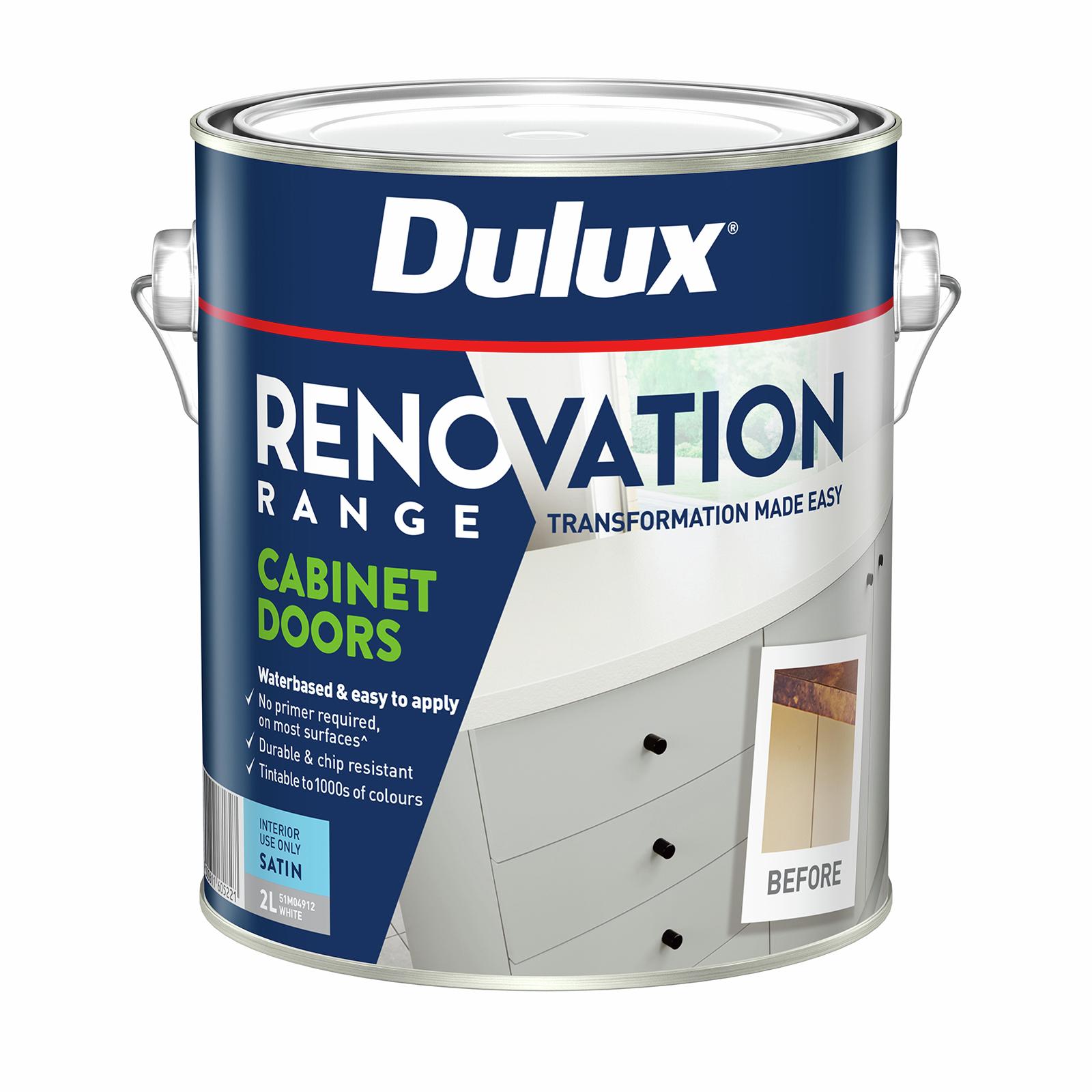 Dulux 2L Renovation Range Cabinet Doors Satin White