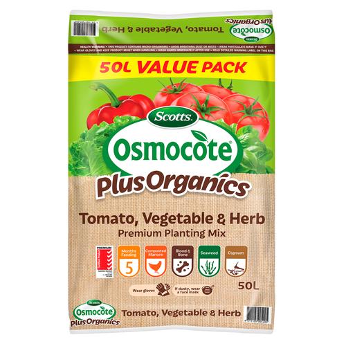 Scotts Osmocote Plus Organics 50L Tomato, Vegetable And Herb Premium Planting Mix